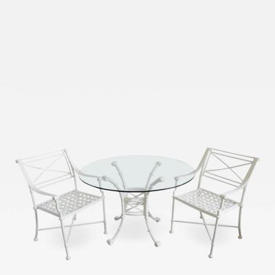 Diego Giacometti Outdoor Dining Set in the Style of Giacometti