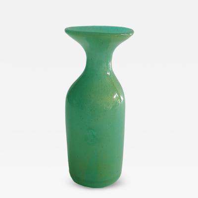 Dino Martens Dino Martens Experimental Art Glass Vase with Gold Flecks