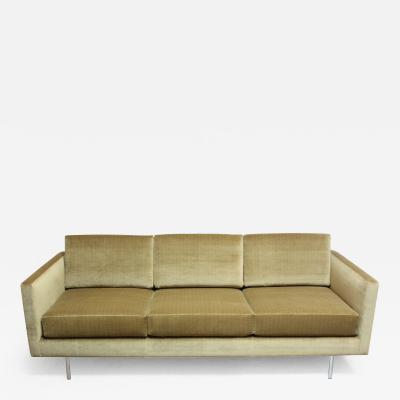 Directional 1960s Three Seat Directional Sofa in Sage Velvet