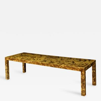 Directional Coffee Table with Oil Drip Lacquer Finish by Directional Furniture