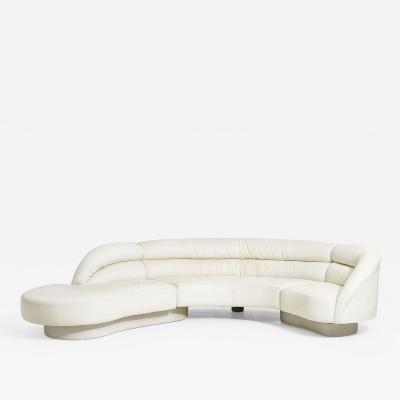 Directional Crescent 3 Piece Sectional Sofa By Vladimir Kagan for Directional