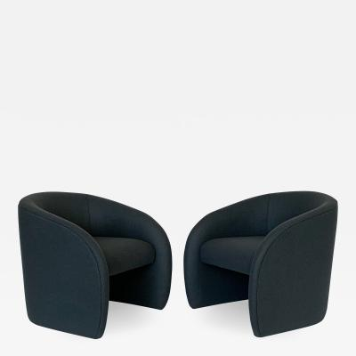 Directional Pair of Directional Fully Upholstered Barrel Lounge Chairs