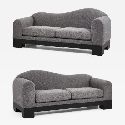 Directional Pair of Postmodern Sofas by Directional Furniture 1980