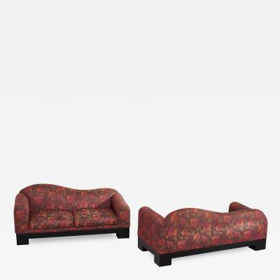 Directional Pair of Postmodern Sofas by Directional Furniture