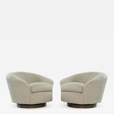 Directional Set of Swivel Chairs in Boucl by Directional c 1970s