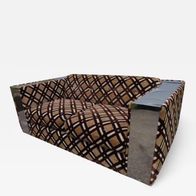Directional Stunning Paul Evans Chrome Loveseat Sofa Directional Mid Century Modern
