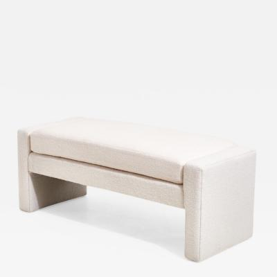 Directional White Boucle Bench by Directional 1970