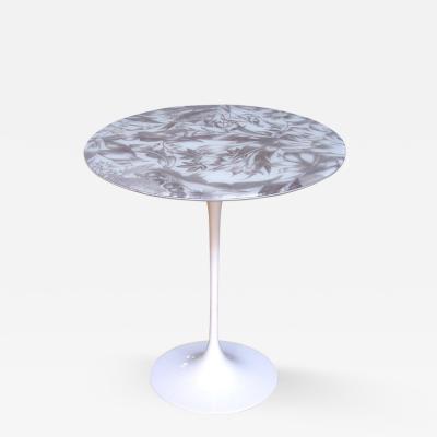 Ditta Steffenino 1960s Italian Tulip Table with Laminated Fabric Top