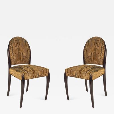 Dominique Dominique Pair of Ebonized Side Desk Chairs