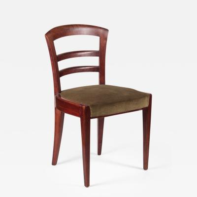 Dominique Dominique Set Of Six Mahogany Dining Chairs