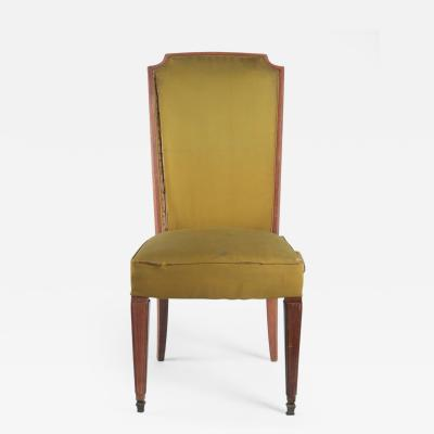 Dominique Dominique Set of 8 High Back Walnut Dining Chairs