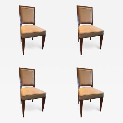 Dominique Dominique Set of Four Dining Side Chairs in Amboyna