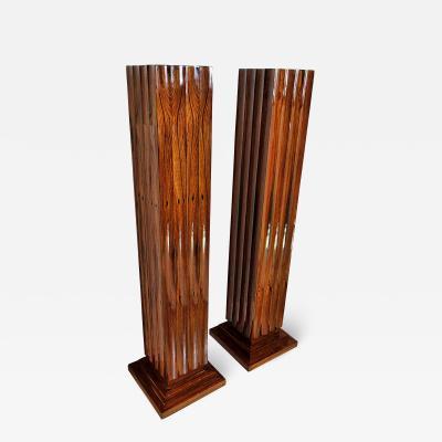 Dominique Pair Fine Art Deco Palisander Pedestals Dominique