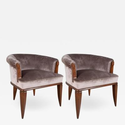 Dominique Pair of Dominique Armchairs In Rosewood