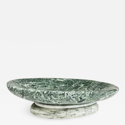 Don Porcaro DPHome Green Marble Footed Bowl