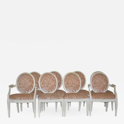 Donghia DONGHIA SET OF FLUTED DINING CHAIRS