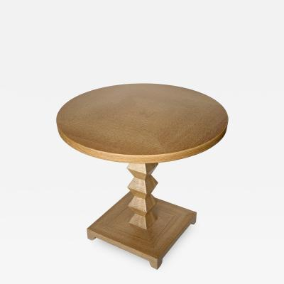 Donghia Donghia Cerused Oak JMF Jean Michel Frank Occasional End Table
