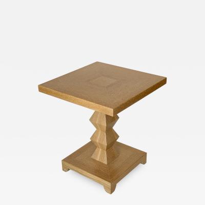 Donghia Donghia Cerused Oak JMF Jean Michel Frank Side Table