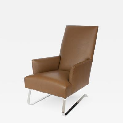 Donghia Donghia Leather Odeon High Back Lounge Chair