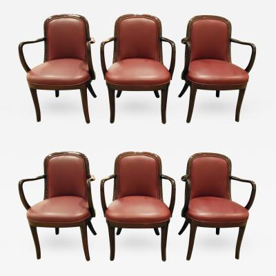 Donghia Donghia Set of 6 Coronia Dining Chairs 1980s