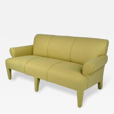 Donghia Donghia Three Seat Sofa Fully Upholstered in Holly Hunt Camel Wool Felt