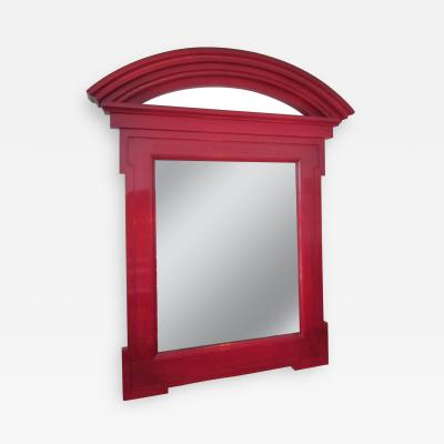 Donghia Large Donghia Red Lacquered Mirror