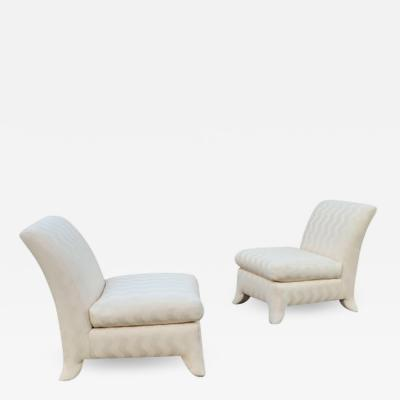 Donghia Pair of Donghia Slipper Lounge Chairs