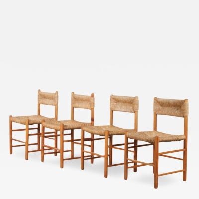 Dordogne dining chairs by Charlotte Perriand for Sentou France 1950