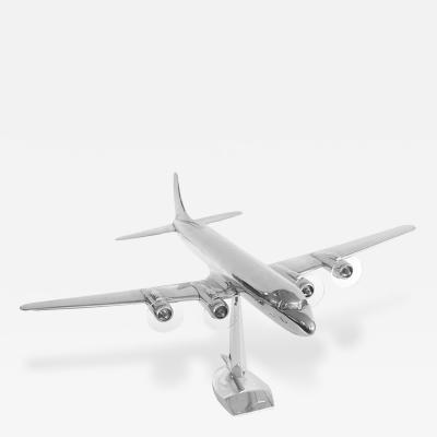Douglas Aircraft Company Original Large Eastern Airlines DC 7 Aluminum Airplane Model