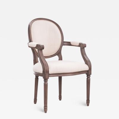 Dowel Regine Louis XVI Arm Chair COM