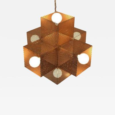Downtown LA Perforated Chandelier