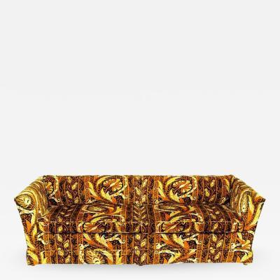 Drexel Drexel Even Arm Tuxedo Sofa with Jack Lenor Larsen Style Fabric