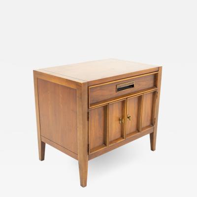 Drexel Drexel Heritage Furniture Drexel Mid Century Walnut Nightstand