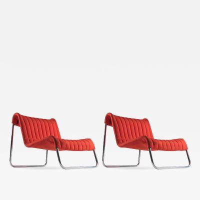 Driade Pair of Duecavalli Lounge Chairs by De Pas Lomazzi DUrbino for Driade