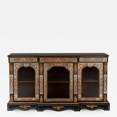Druce Co Victorian Boulle and ormolu mounted antique vitrine cabinet