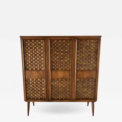 Dunbar American Modern Woven Front 3 Door Cabinet Cabinet Dunbar