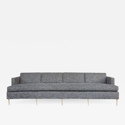 Dunbar Mid Century Dunbar Style Sofa with Brass Legs