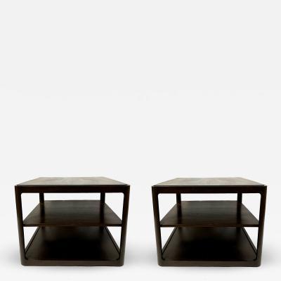 Dunbar Pair Of Dunbar Tri Level End Tables