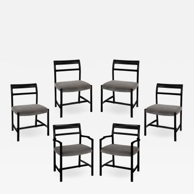 Dunbar Roger Sprunger Set of 6 Dining Chairs for Dunbar 1967 Signed