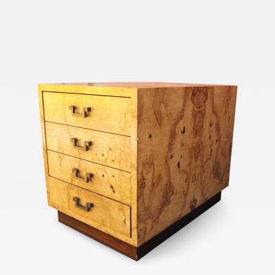Dunbar Small Olive Burlwood Chest of Drawers by Dunbar