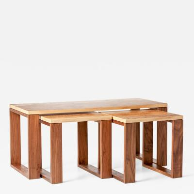 Dunleavy Bespoke Furniture Burl Collection Nesting tables