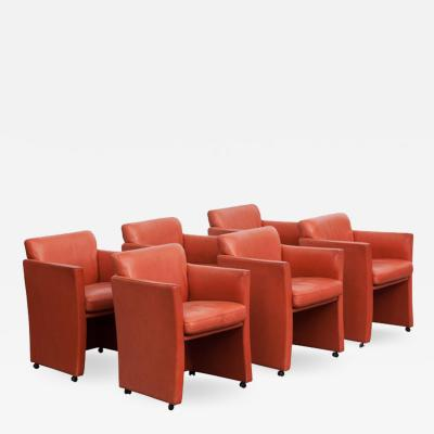 Durlet Durlet Red Leather Armchairs