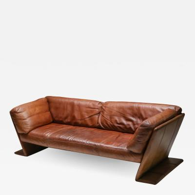 Durlet Leather Sofa by Durlet Belgium 1970s