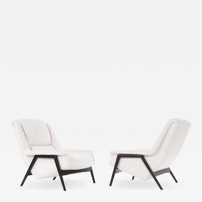 Dux Scandinavian Modern Lounge Chairs by Dux Sweden 1960s
