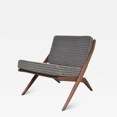 Dux Scandinavian modern scissor lounge chair by folke ohlsson for dux