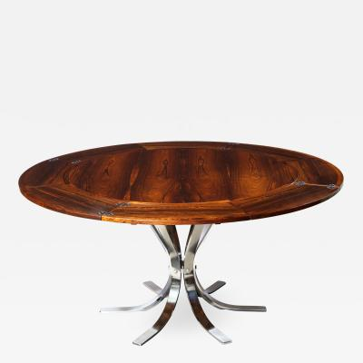 Dyrlund A Danish Rosewood Lotus Design Dining Table by Dyrlund