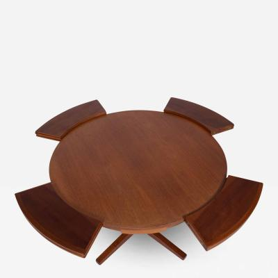 Dyrlund A Dyrlund teak Lotus or Flip Flap dining table 1960s