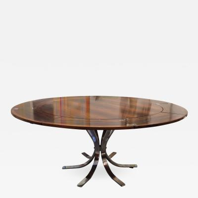 Dyrlund Danish Mid Century Modern Rosewood and Chrome Lotus Design Flip Flap Table
