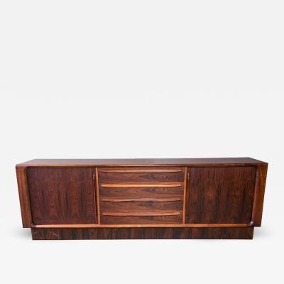 Dyrlund Danish Modern Rosewood Credenza by Dyrlund for Maurice Villency