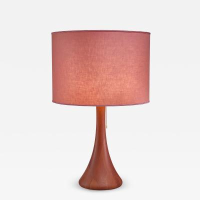 Dyrlund Dyrlund wood table lamp Denmark 1960s